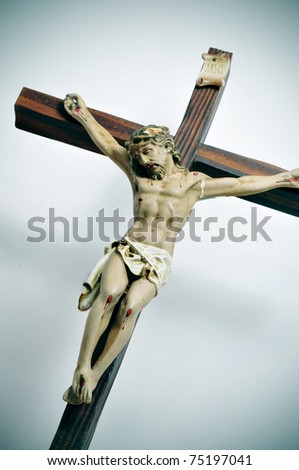 a representation of Jesus Christ in the holy cross - stock photo