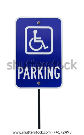A reserved handicap sign - stock photo