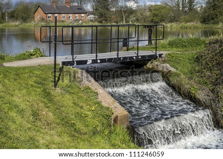 a reservoir lake or river - stock photo
