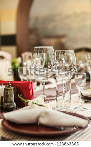 a restaurant serving - stock photo