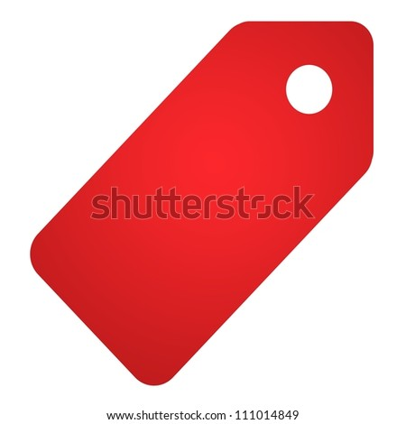 A retail shopping tag isolated against a white background - stock photo
