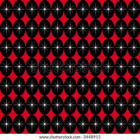A retro SEAMLESS pattern typical of the 1950s modern style. - stock photo
