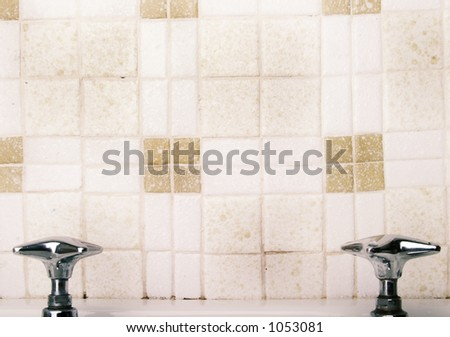 A retro sink tap and faucet - stock photo
