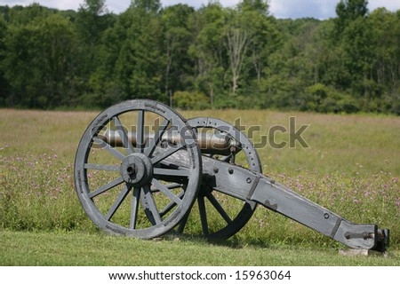 A Revolutionary War cannon at the Saratoga National Historical Park