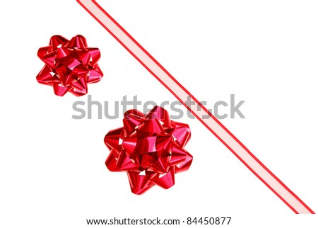 A ribbon bow background