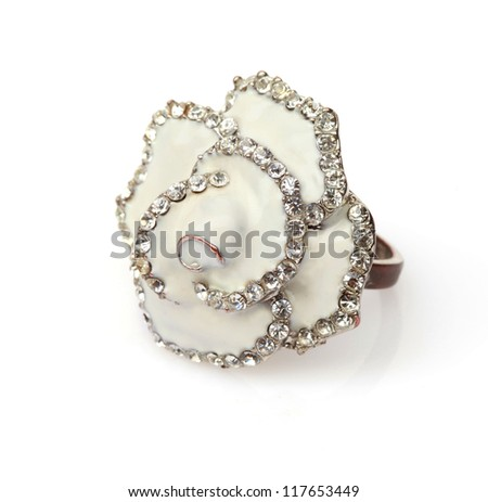 a ring in a form of a flower - stock photo