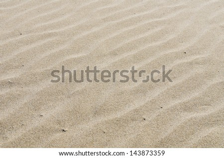 A rippled sandy beach for use a texture or background