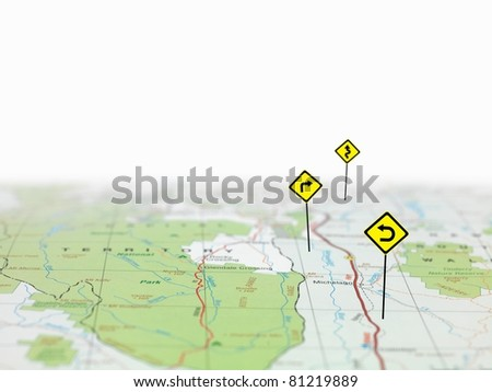 A road map - stock photo
