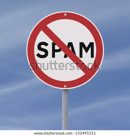 A road sign against spamming - stock photo