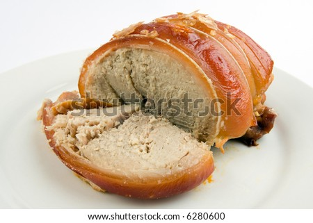 A roast pork joint for a traditional Sunday lunch