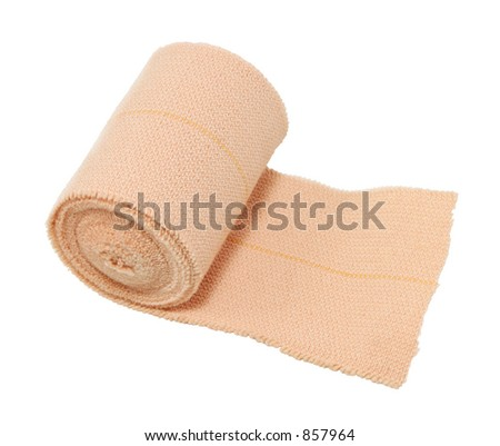 A roll of bandage - stock photo