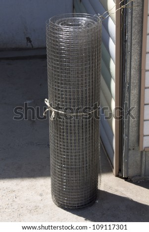 a roll of mesh - stock photo