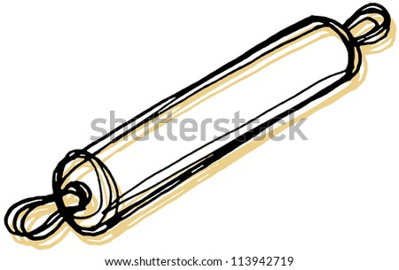 A rolling pin - stock photo