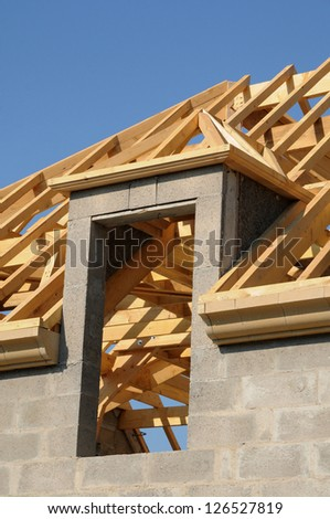 a roof structure of an house in France