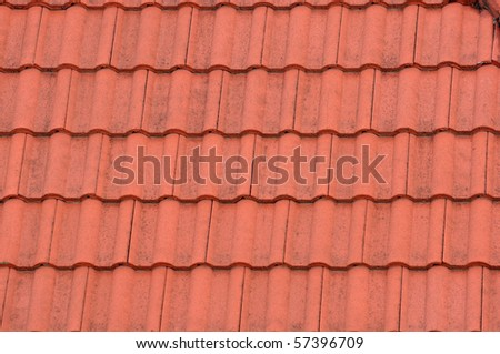 A Roof tile pattern texture - stock photo