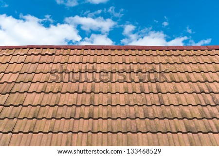 A Roof Top with Red Tiles