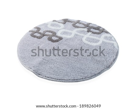 a round grey carpet isolated on white background - stock photo