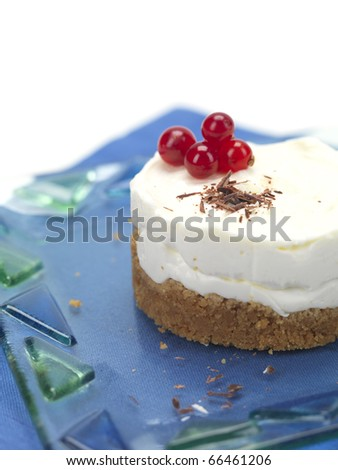a round shaped cheese cake with cranberries
