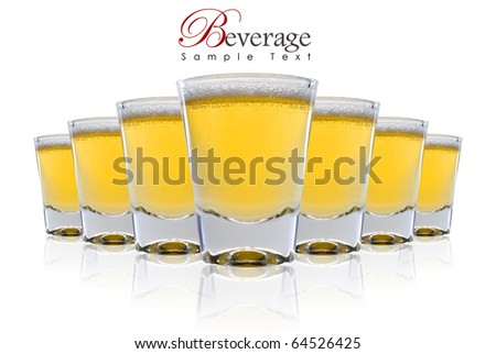 a Row of Beer with copy space - stock photo