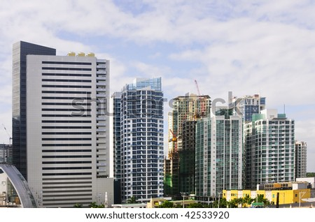 A row of buildings in an urban area in Metro Manila, Philippines