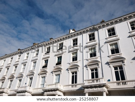 A row of Georgian homes in Cental London - stock photo