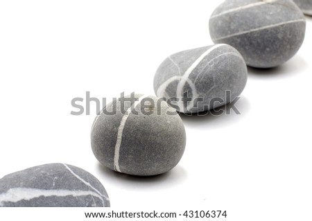 A row of natural grey stones