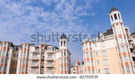 A row of new townhomes of china. - stock photo
