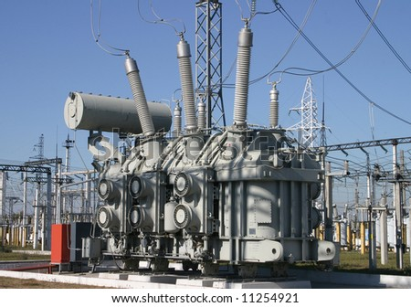 A row of power equipment - stock photo