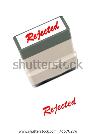 A rubber stamp isolated against a white background