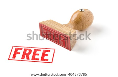 A rubber stamp on a white background - Free  - stock photo