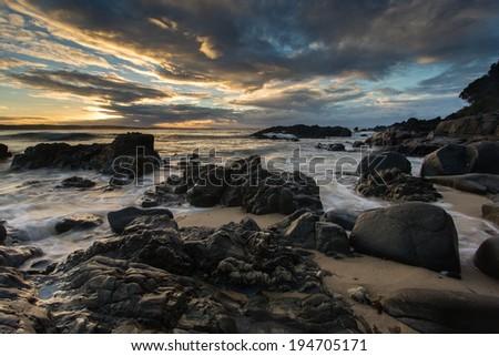 A rugged australian seascape - stock photo