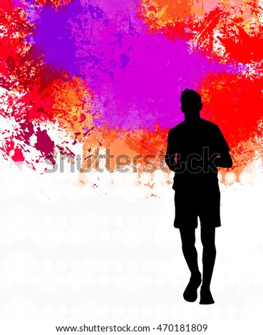 A runner illustration. Sport background