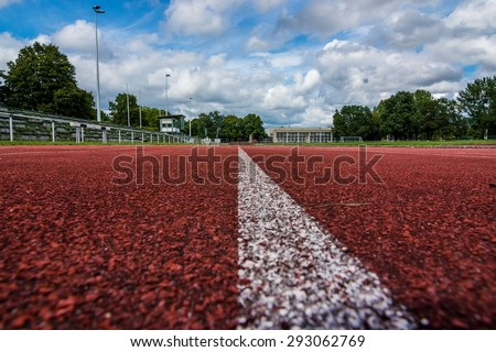 a running track  - stock photo