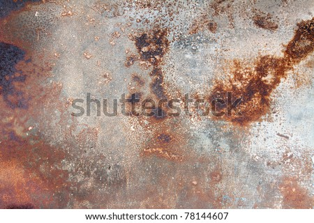 A rust on Zinc wall - stock photo