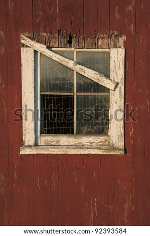 A Rustic Aged Barn with Broken Glass