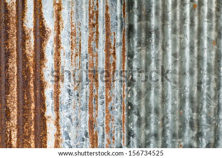 A rusty corrugated iron metal texture, can use for background