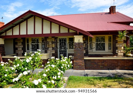 A 1920s Bungalow house in Australia - stock photo