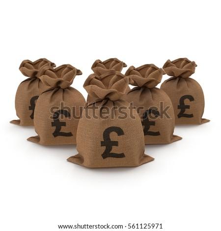 Sack Bag Pounds On White 3 D Stock Illustration 561125971 Shutterstock