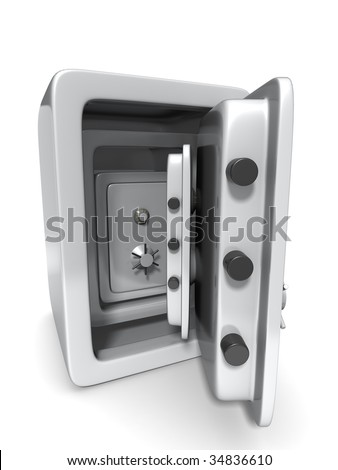 A safe in a safe in a safe. - stock photo