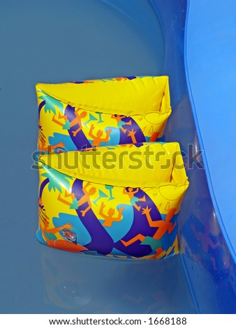 A safety arm bands for child - stock photo