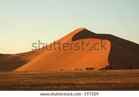 A sand dune, Namibia, Africa