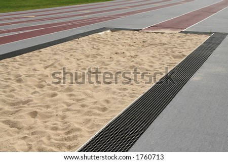 a sand pit - stock photo