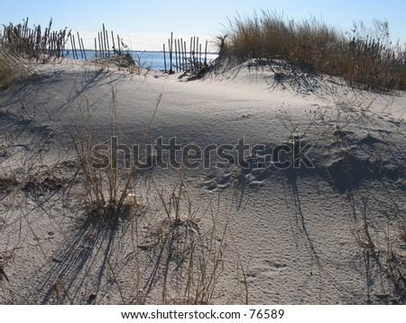 A Sandbar - stock photo