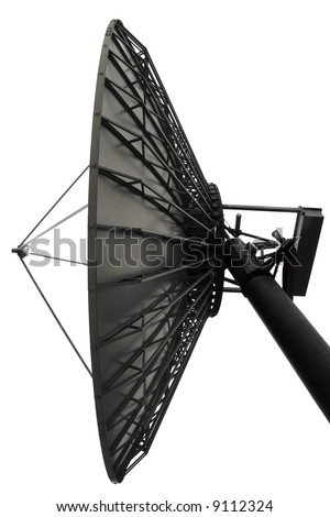 A satellite dish checking things out in space - stock photo