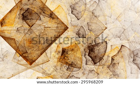 A scattering of diamonds on a white background. Abstract illustration. Format 16:9 for widescreen monitors. Fractal Wallpaper on your desktop. - stock photo