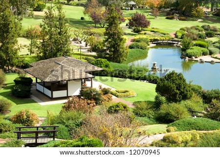 A scene from the Cowra Japanese Garden, situated in the Central West of New South Wales, Australia