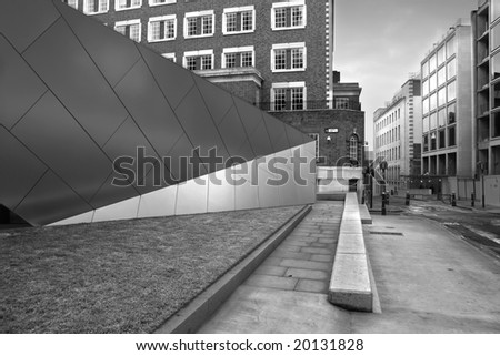 a scenic view of a london street - stock photo