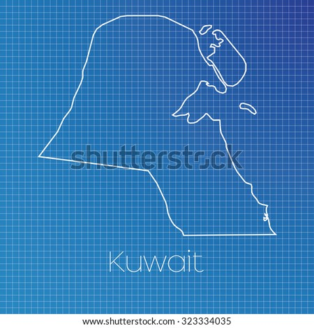 A Schematic outline of the country of Kuwait