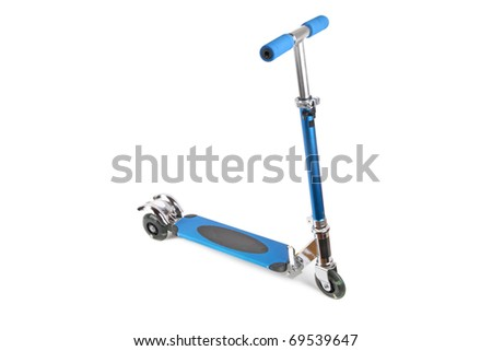 a  scooter for children with white background - stock photo