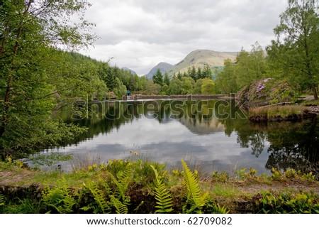 A scottish Loch - stock photo